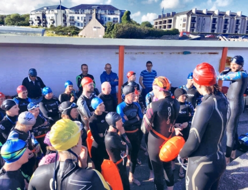 Thanks to Lynne for a shot of the beginners group of the Galway Triathlon Club 'Start of Swim Session' down at Blackrock in Salthill, Galway